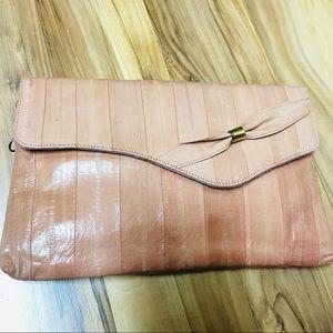 Eel skin purse